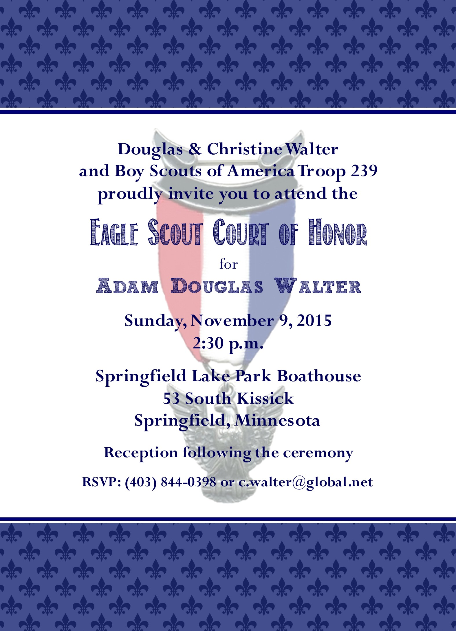 Proud Eagle Scout Invitation