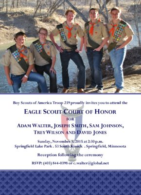 Proud Group Eagle Scout Invitation