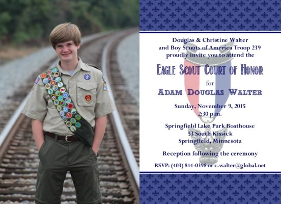 Proud Photo Eagle Scout Invitation