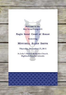 Proud Eagle Scout Court of Honor Program
