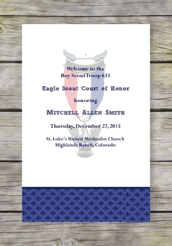 Proud Eagle Scout Court of Honor Program