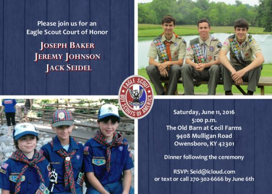 Rustic Eagle 6-Eagle Scout Invitation