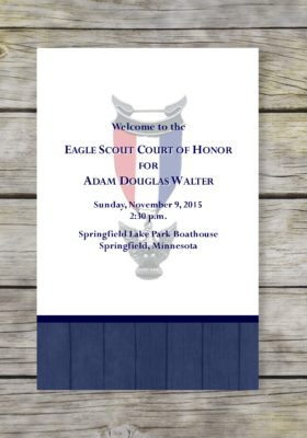 Rustic Eagle Scout Court of Honor Program