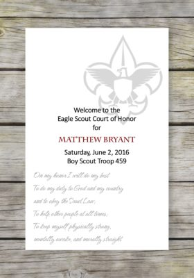 Scouts Honor Eagle Scout Court of Honor Program