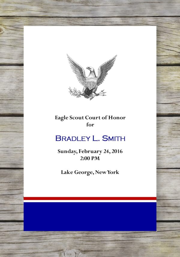 Simple Scout Eagle Scout Court of Honor Program