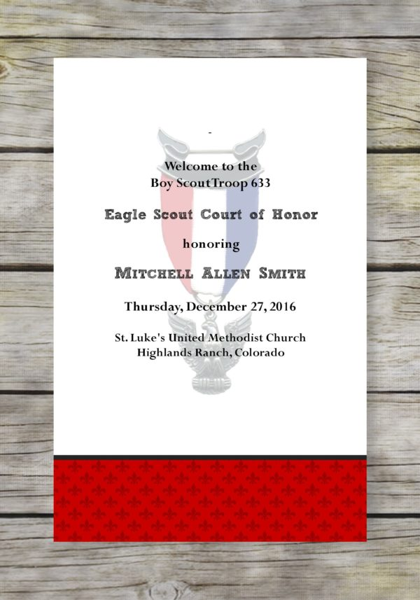 Thrifty Eagle Scout Court of Honor Program