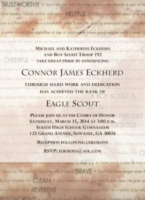Traditions Eagle Scout Invitation