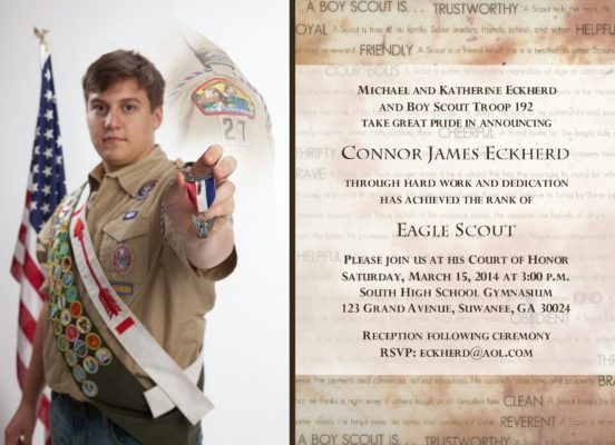 Traditions Photo Eagle Scout Invitation