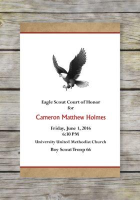 Vintage Eagle Scout Court of Honor Program