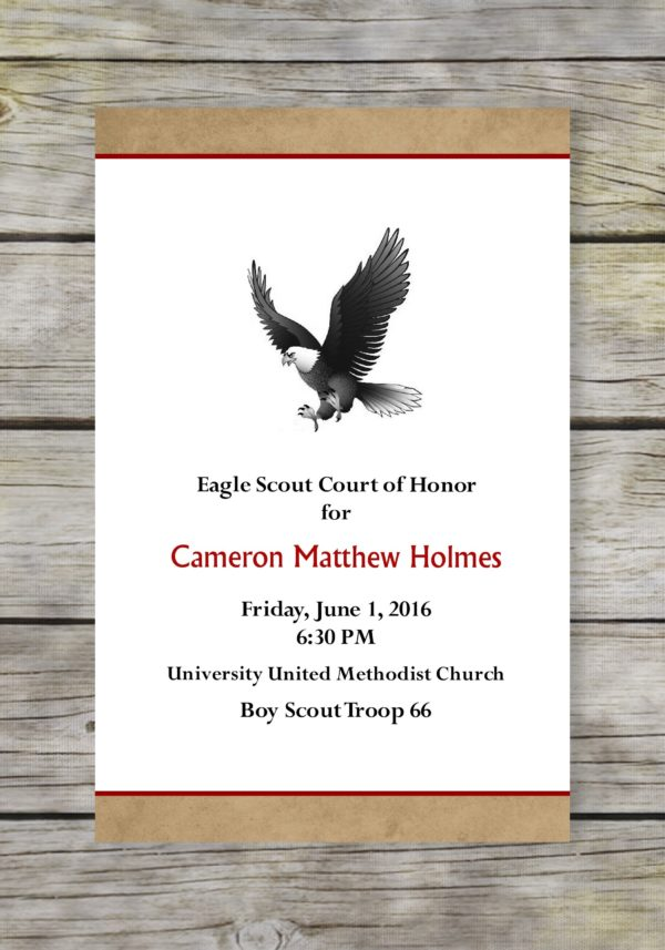 Vintage Eagle Scout Court of Honor Program