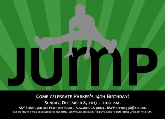13Jump To It Party