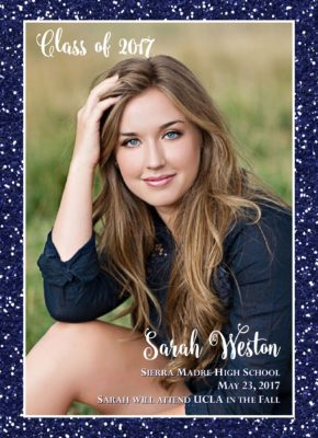 Glitter Graduate Graduation Announcement