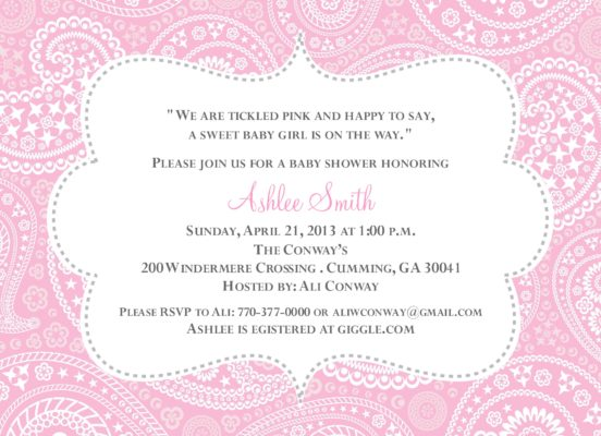 Product categories baby shower paisley baby pink and grey baby shower invitation filmwisefo
