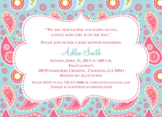 Product categories baby shower paisley baby pink and blue baby shower invitation filmwisefo