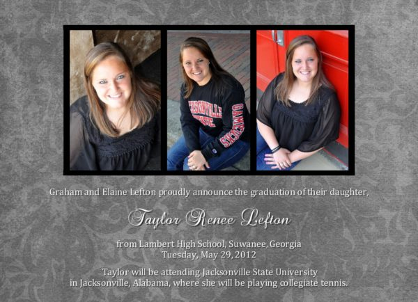 Celebration Toile Graduation Announcement