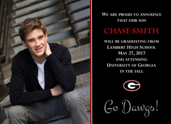 Simply Honored (Black) Graduation Announcement