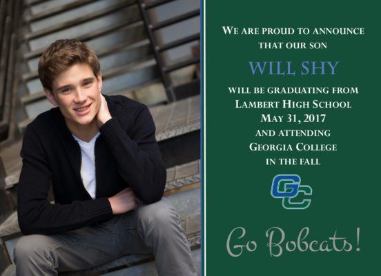 Simply Honored (Green) Graduation Announcement