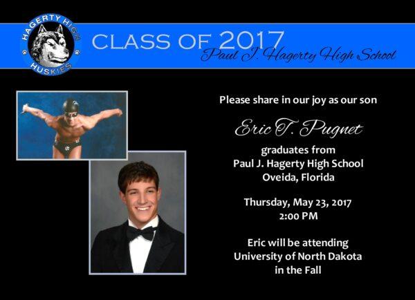 Always an Honor (Blue) Graduation Announcement