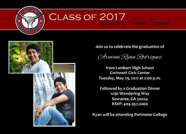 Always an Honor (Burgundy) Graduation Announcement