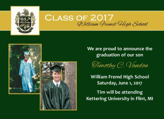 Always an Honor (Green/Gold) Graduation Announcement