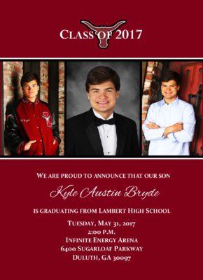 Celebration Simply Graduation Announcement