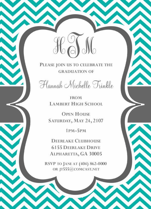 Chevron Grad (Tiffany Blue) Graduation Announcement