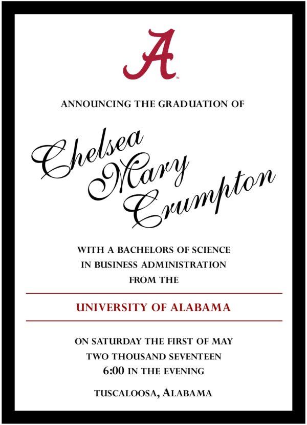 Classic Graduate 1 Graduation Announcement
