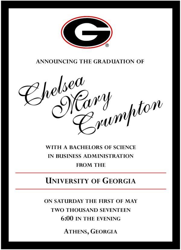Classic Graduate 3 Graduation Announcement