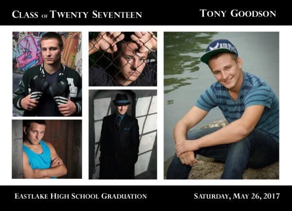 Collage Blocks (Black) Graduation Announcement