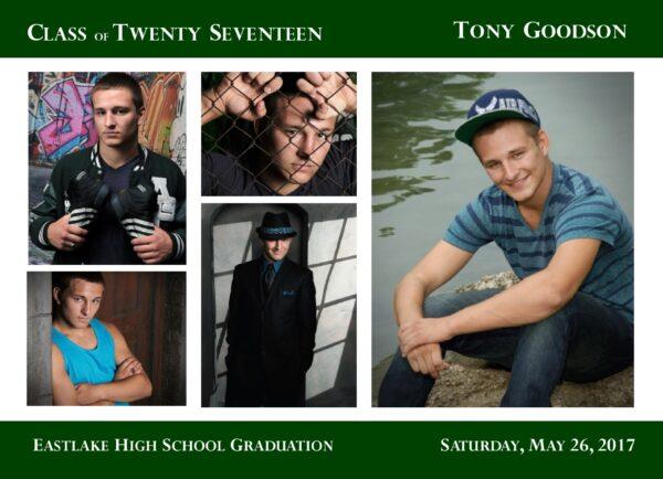 Collage Blocks (Blue) Graduation Announcement
