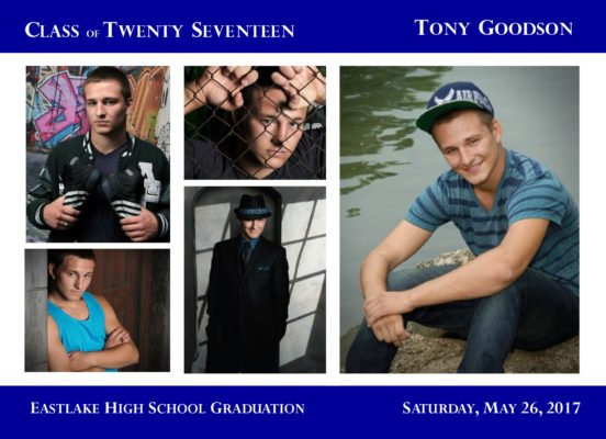 Collage Blocks (Royal) Graduation Announcement