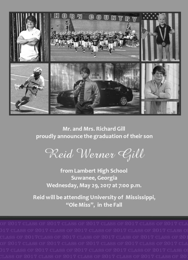 Graduate Collage (Purple) Graduation Announcement