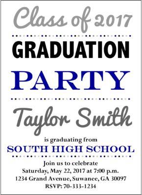 Illuminated Grad (Blue) Graduation Announcement