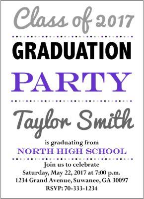 Illuminated Grad (Purple) Graduation Announcement