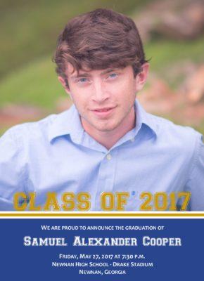 Pride (Blue/Gold) Graduation Announcement