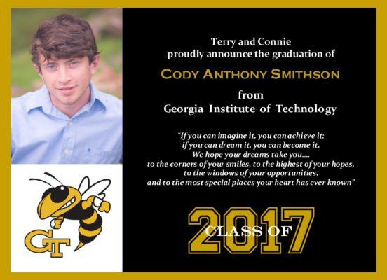 Pure Class (Black/Gold) Graduation Announcement