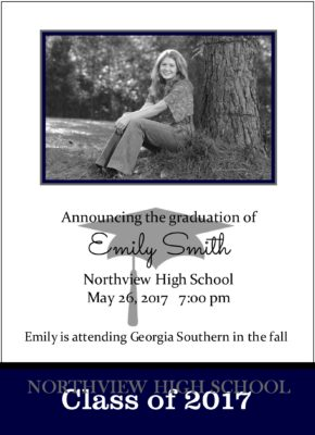 Shoot for the Stars (Blue) Graduation Announcement