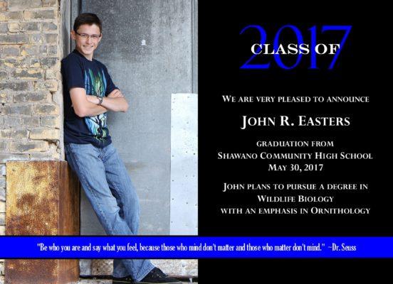 Simplicity (Blue) Graduation Announcement