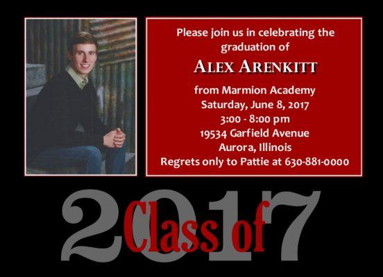 Traditional Blocks (Red/Black) Graduation Announcement