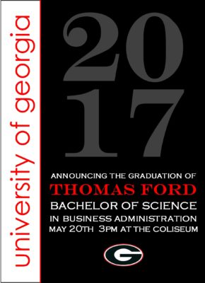 Traditions in Style (Red/Black) Graduation Announcement